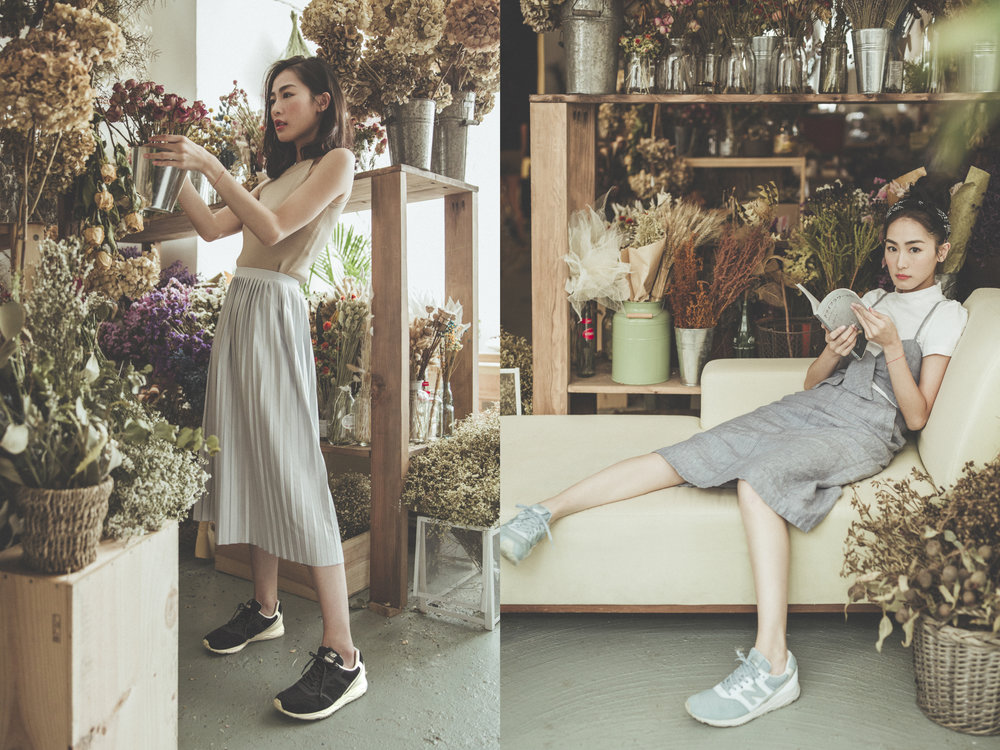 Evelyn Choi  Stylist/  Constance Lee    New Balance Hong Kong Lifestyle   白紙花舍 be tabula rasa    Tomorrow Communications