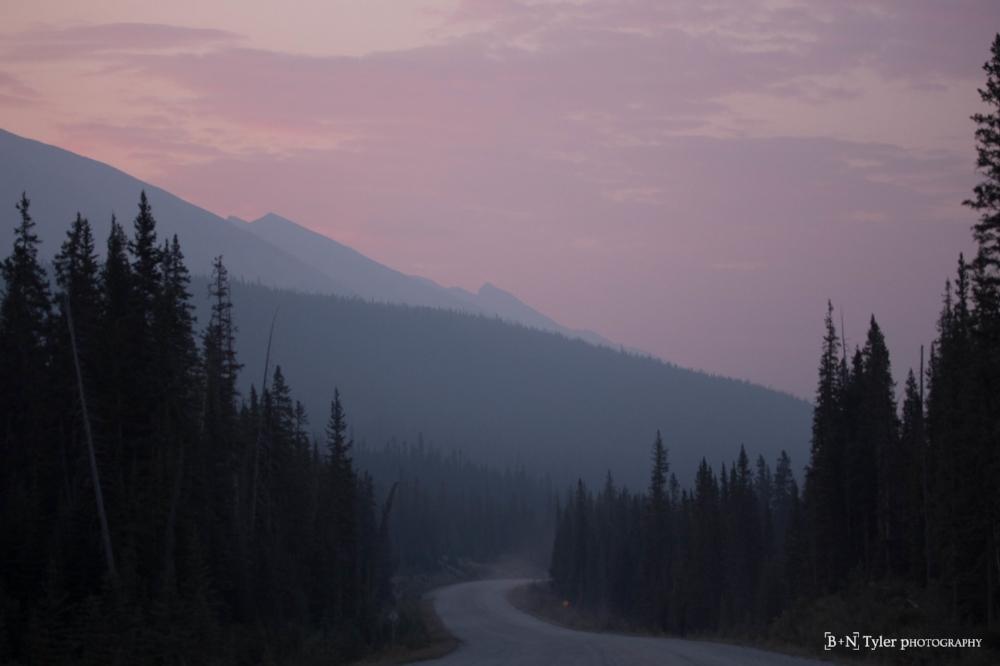 Sunrise on the Smith-Dorrien Road
