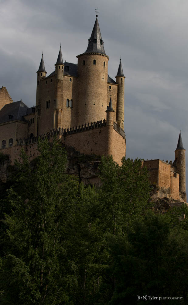 Alcázar of Segovia, close up
