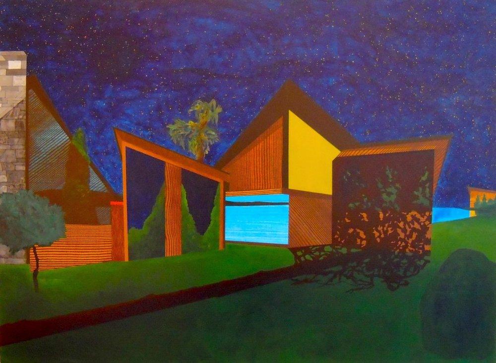 """Sleeper  2009-2012  acrylic on panel  35""""H x 47""""W"""
