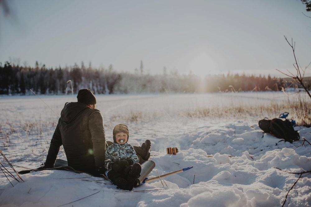Vintermys på Fjäddran