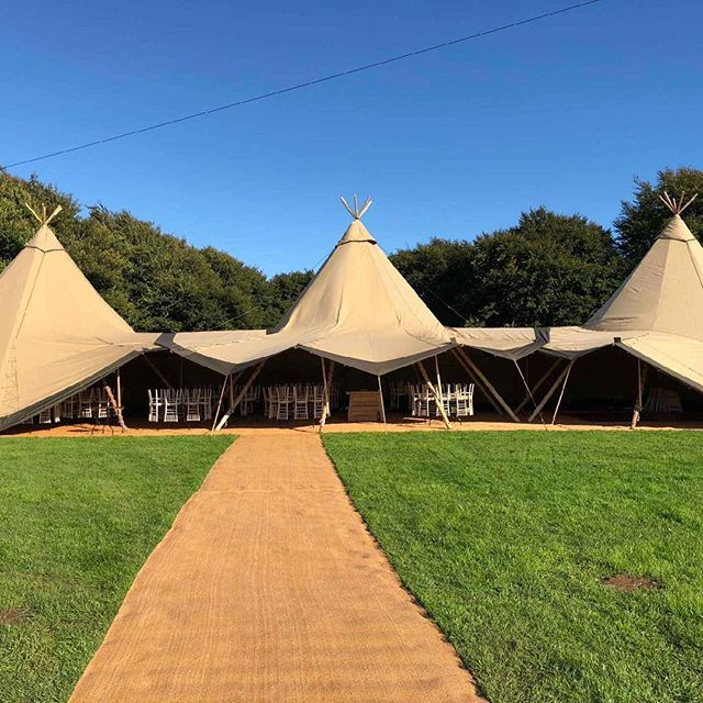 Beautiful weather for our 3 Giant set up in Pwllheli, North Wales. Tipis look great with the wooded background - magical! #makingmagicalmemories #weddingsandevents #tipi #tipihire #pwllheli #gwynedd #northwales #makingmagicalmemories