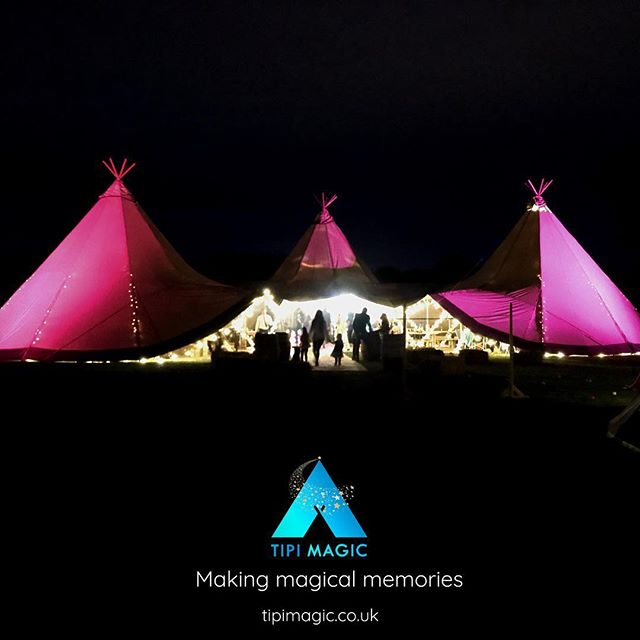 3 Giant Set-Up. Somewhere in a field in Wales. A naming party on a balmy September evening. #weddingsandevents #tipi #tipimagic #makingmagicalmemories #namingceremony www.tipimagic.co.uk