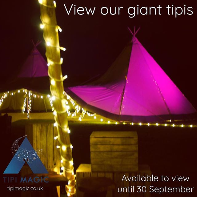 'It's only until you see them you realise how truly magical they are.' View our giant tipis in Wrexham up until 30th September.  www.tipimagic.co.uk