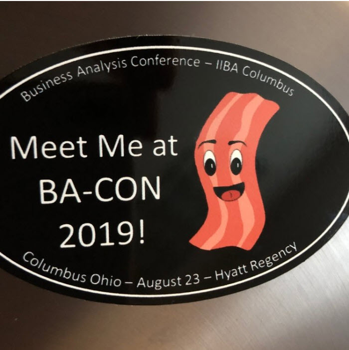 #meetmeatbacon - Come to a chapter meeting to get your own removable laptop sticker for BA-CON 2019!