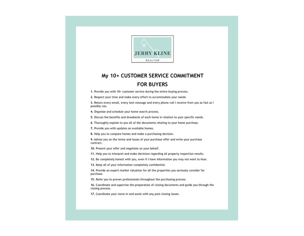 GET THE 10+ CUSTOMER SERVICE COMMITMENT -