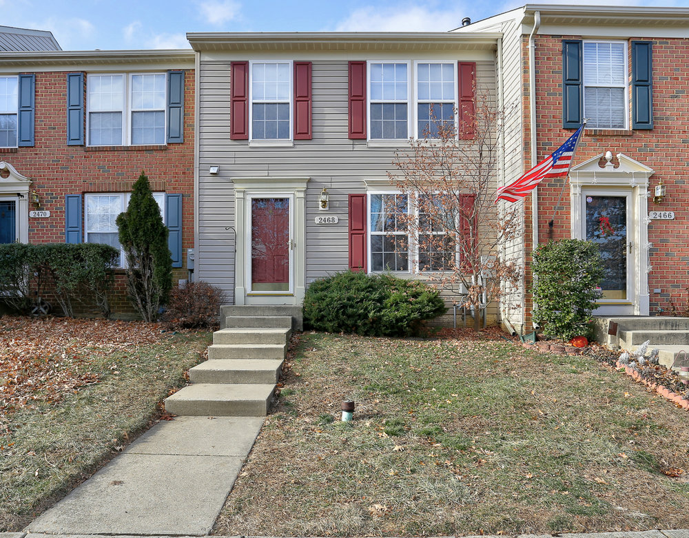 Street view of 2468 Ivy Landing Way in the Piney Orchard section of Odenton, Maryland. This Fort Meade, Maryland, area home was recently sold by Jerry Kline, Realtor, Keller Williams Flagship of Maryland, for $337,000.