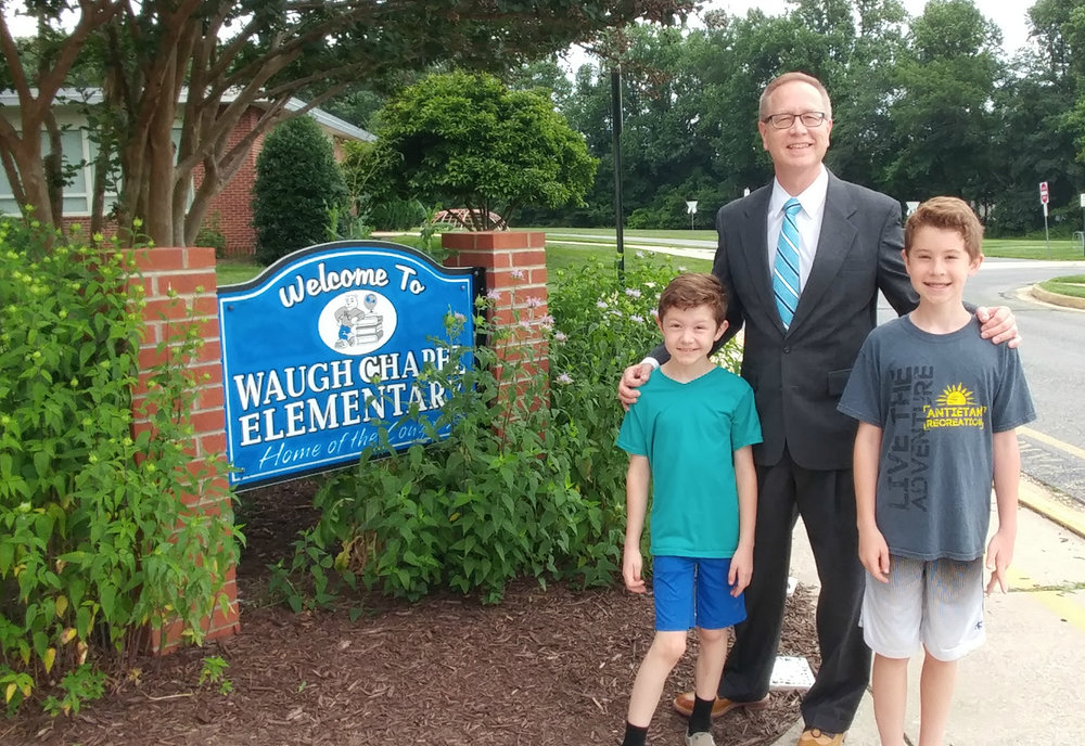 Jerry Kline, Realtor with Keller Williams Flagship of Maryland, near Fort Meade, recently spoke about his profession to students at Waugh Chapel Elementary School Career Day.