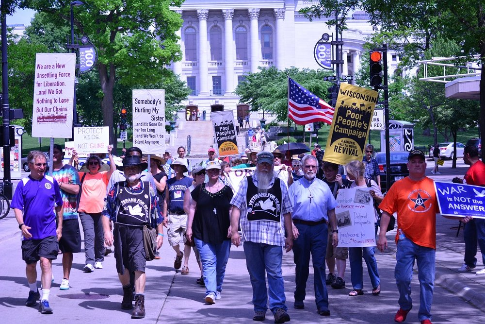 In May and June, OWR-Dane members participate in the nation-wide Poor People's Campaign: A National Call for Moral Revival.