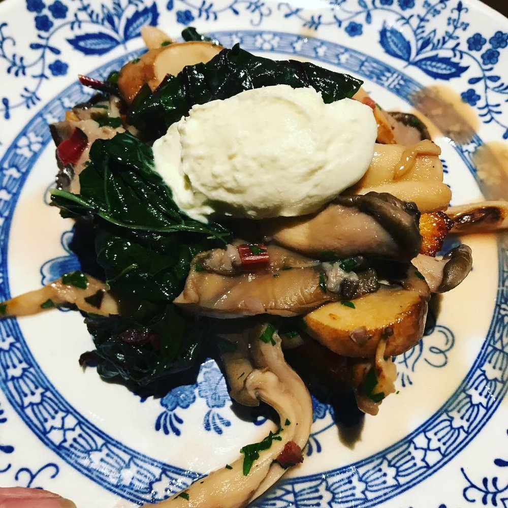 Antipasti Saturday - This pictured mushroom and polenta dish was the crowd favourite last time! Come Saturday to find out which will be this week!