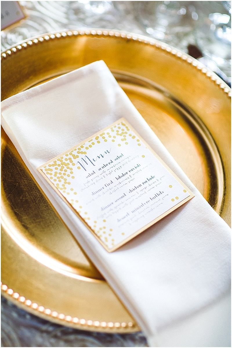 Gold & White wedding