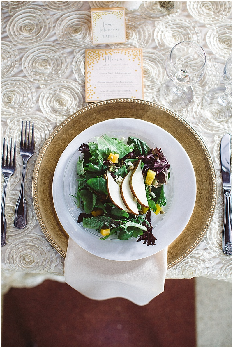 Pretty wedding salad