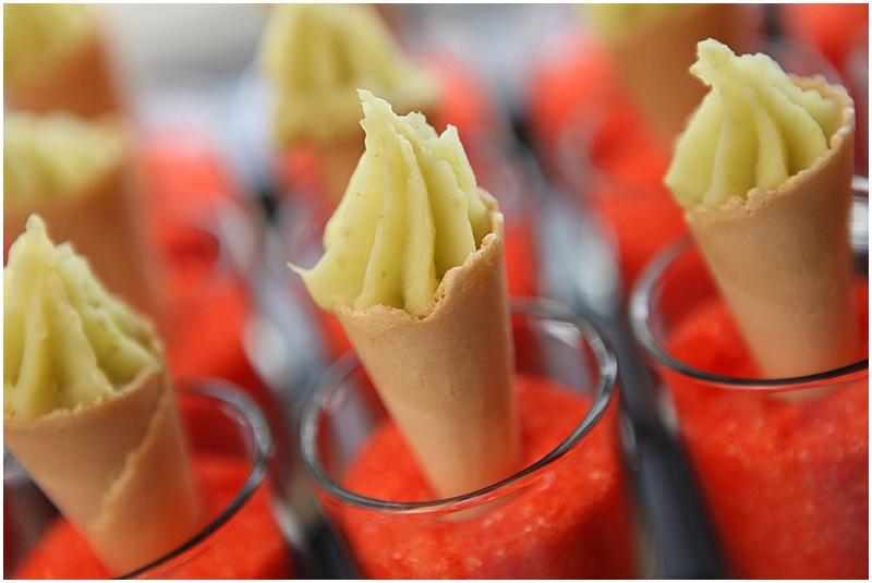 Unique wedding appetizer shooters