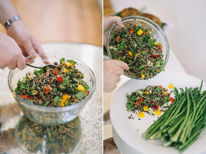 Wild Rice Avocado Salad & Asparagus-rosetree-thanksgiving