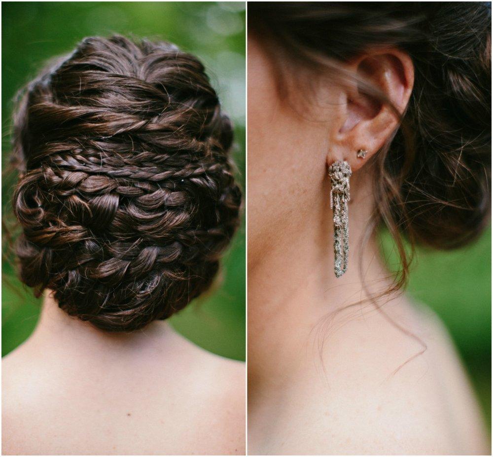 Bridal Hair and Bridal earings