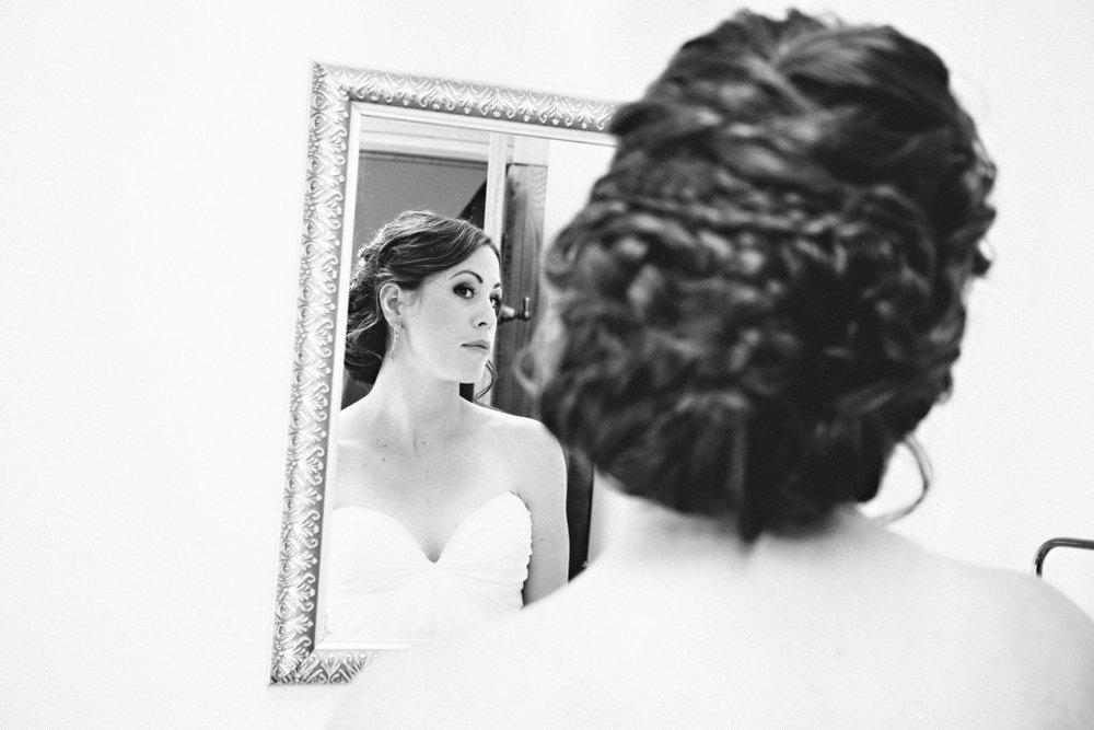 Bride reflection | Braided wedding hair