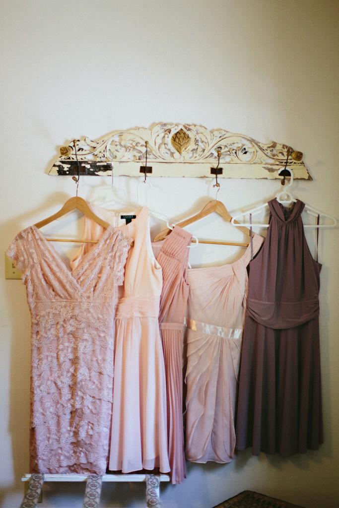 Blush & Mauve Bridesmaids Dresses