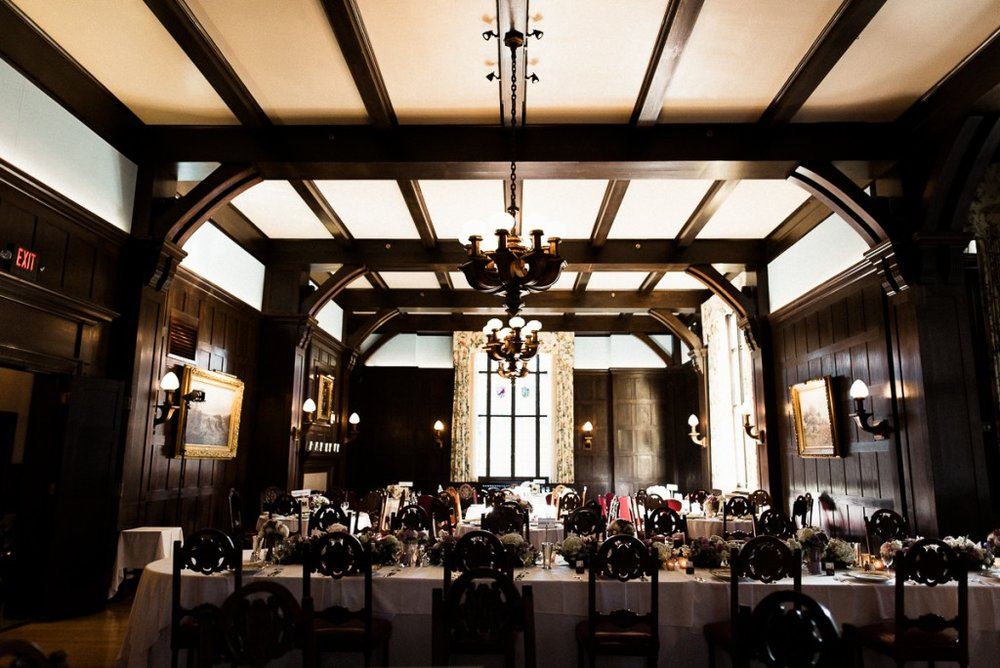 Wedding reception at Minneapolis Club wedding venue