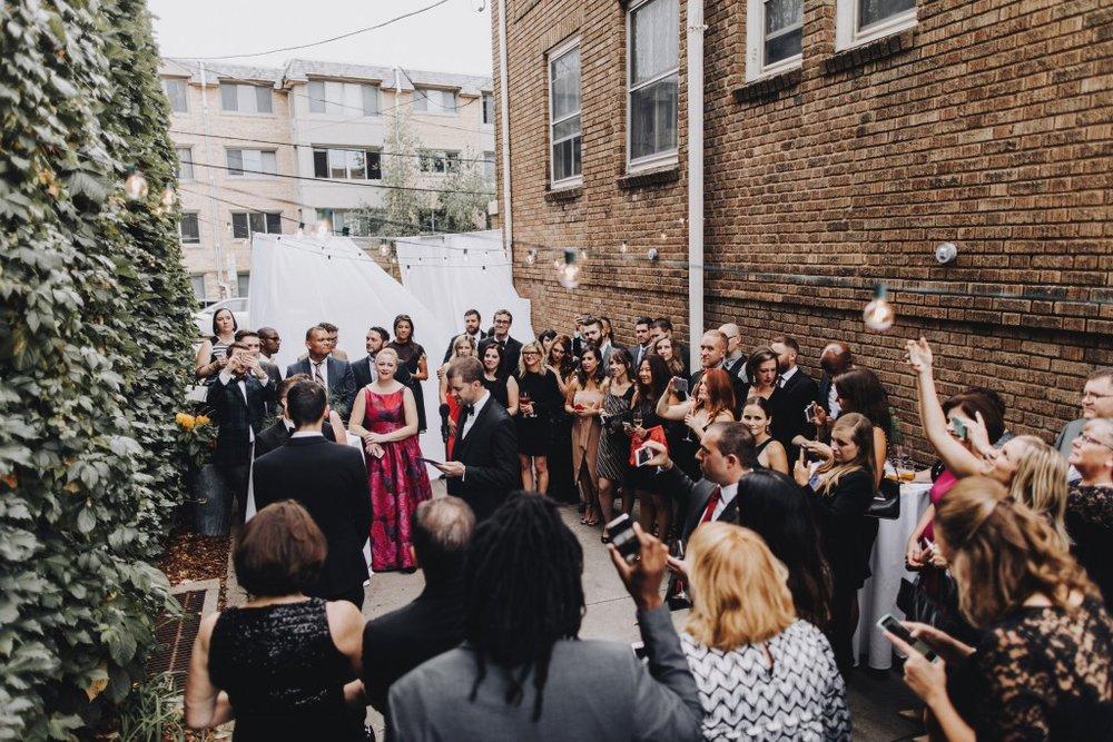 same sex wedding ceremony in Linden Hills Minnesota