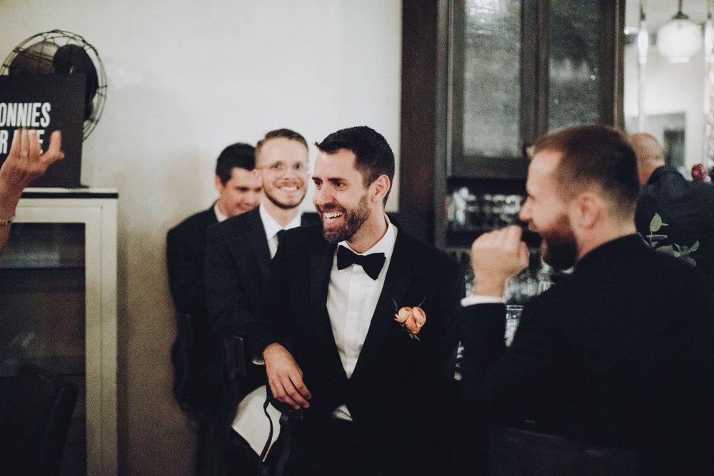 Same sex wedding reception at Tilia in Linden Hills, Minnesota