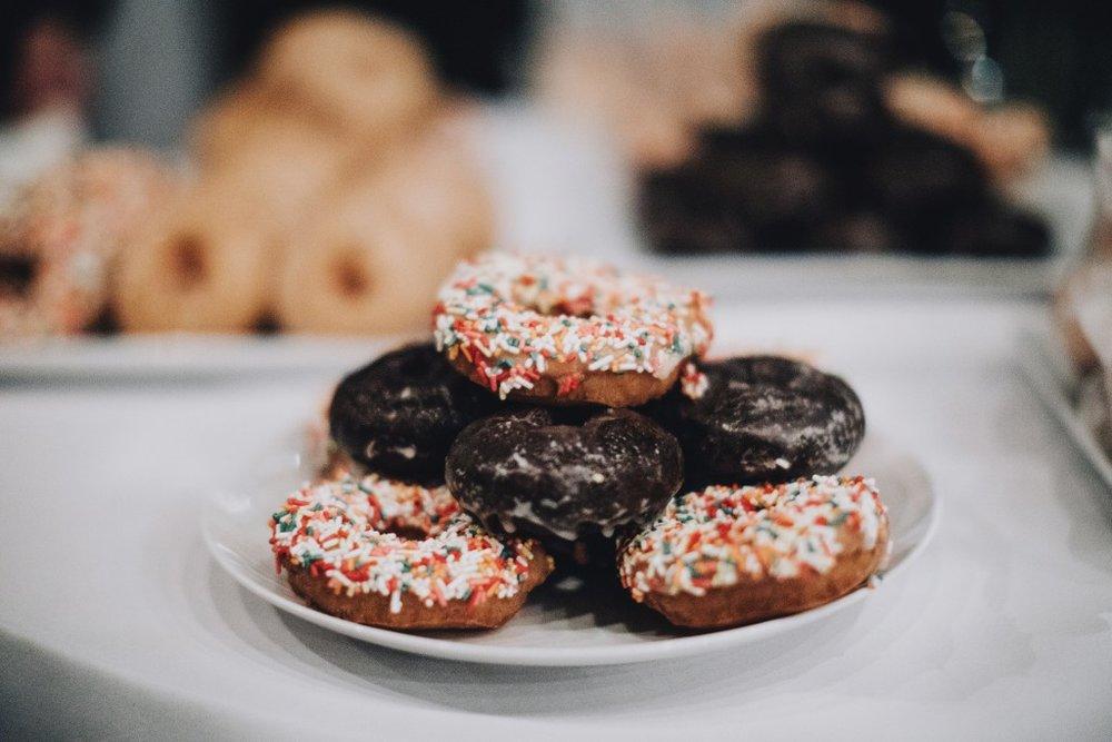 Donut display for wedding reception