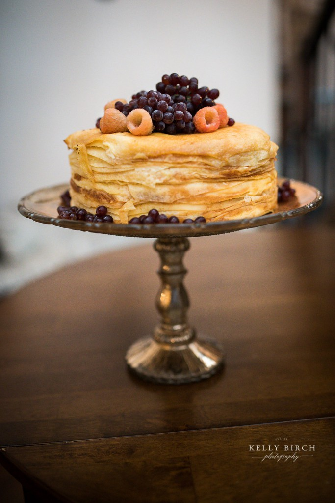 Crepe cake for wedding reception