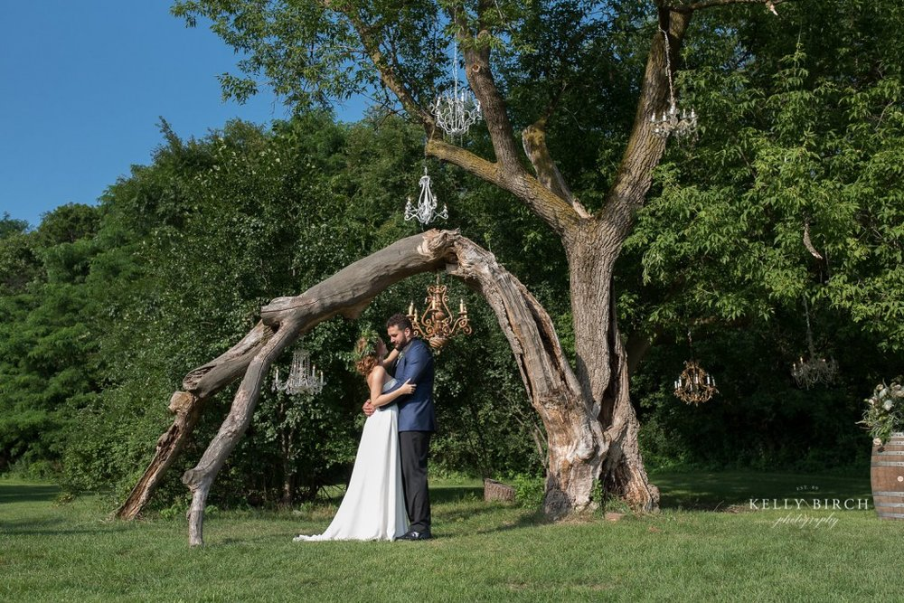Unique wedding ceremony design at Historic Hope Glen Farm