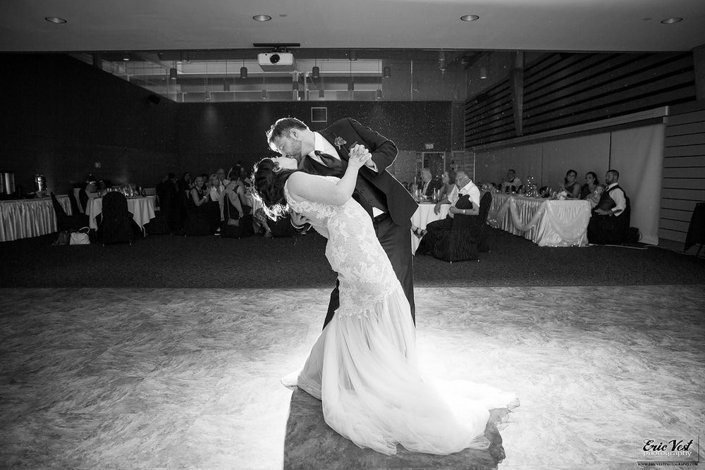 Couple's first dance during Como Park Zoo and Conservatory wedding reception