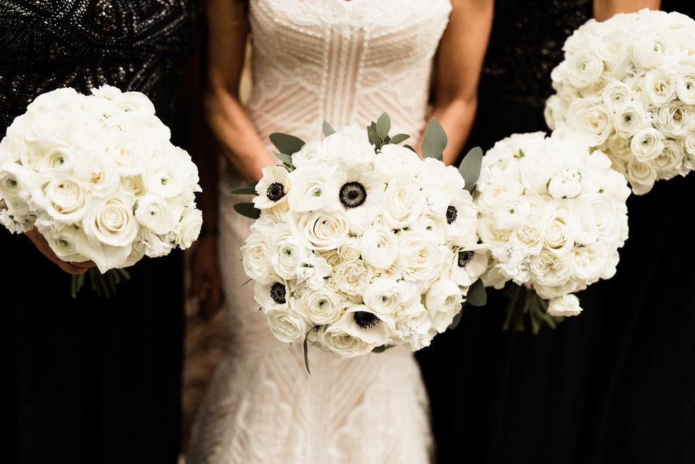 white bridal bouquets