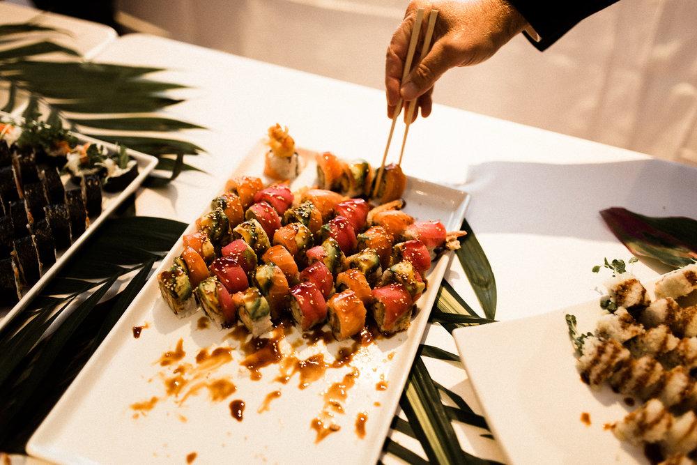 sushi dish at MN wedding