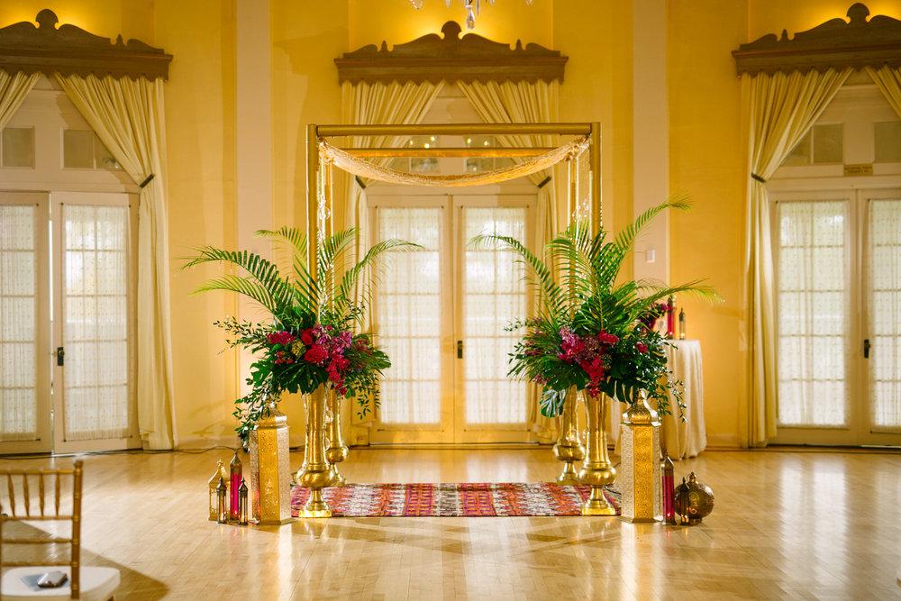 wedding entrance of Adam's Lafayette Club Venue