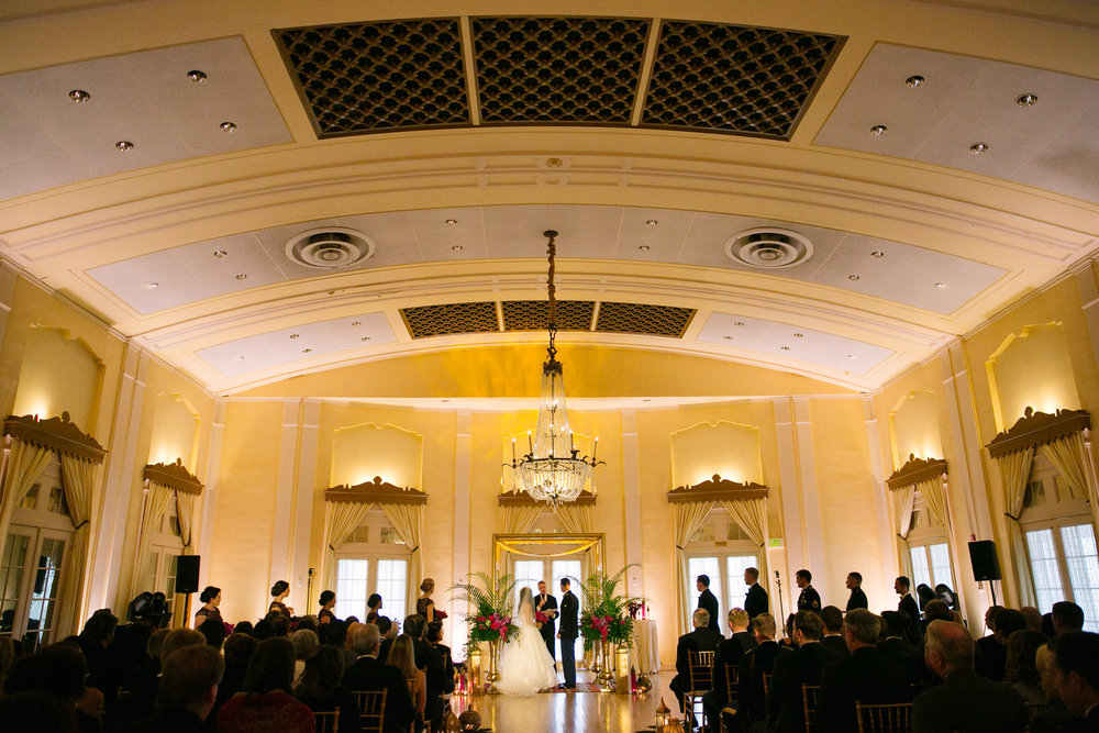 wedding ceremony at the Adam's Lafayette Club