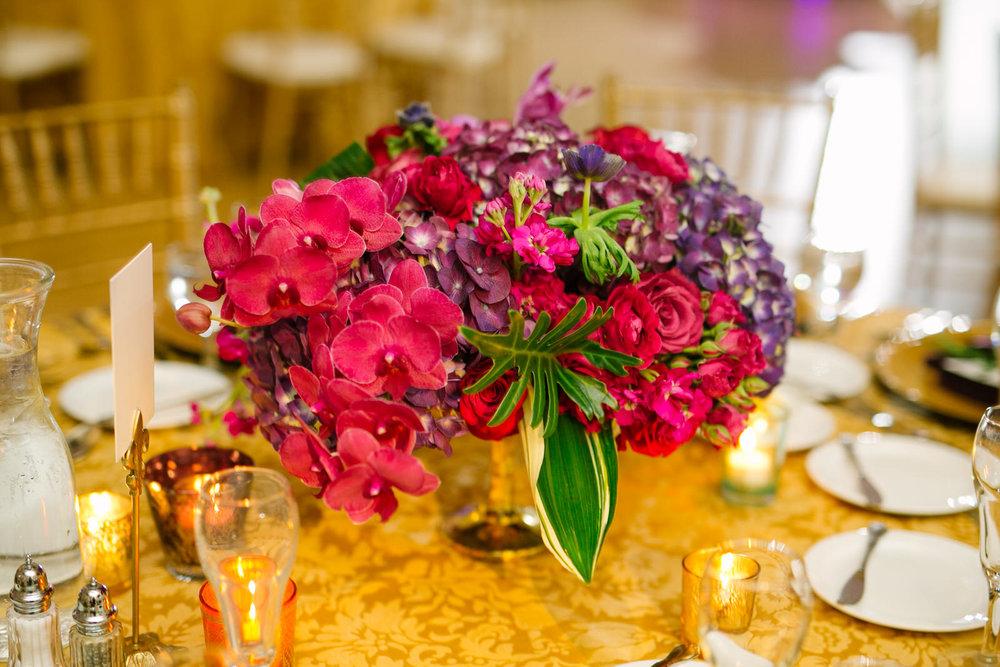 pink floral wedding centerpiece