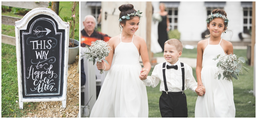 flower girls and ring bearer