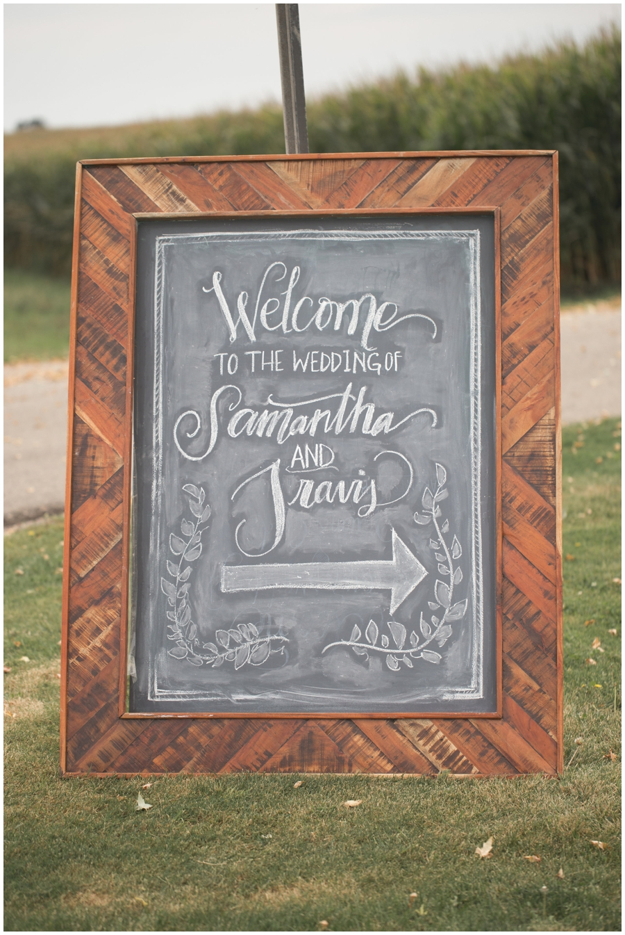 wedding ceremony decor sign