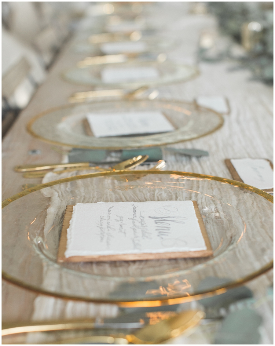wedding tablescape at wedding