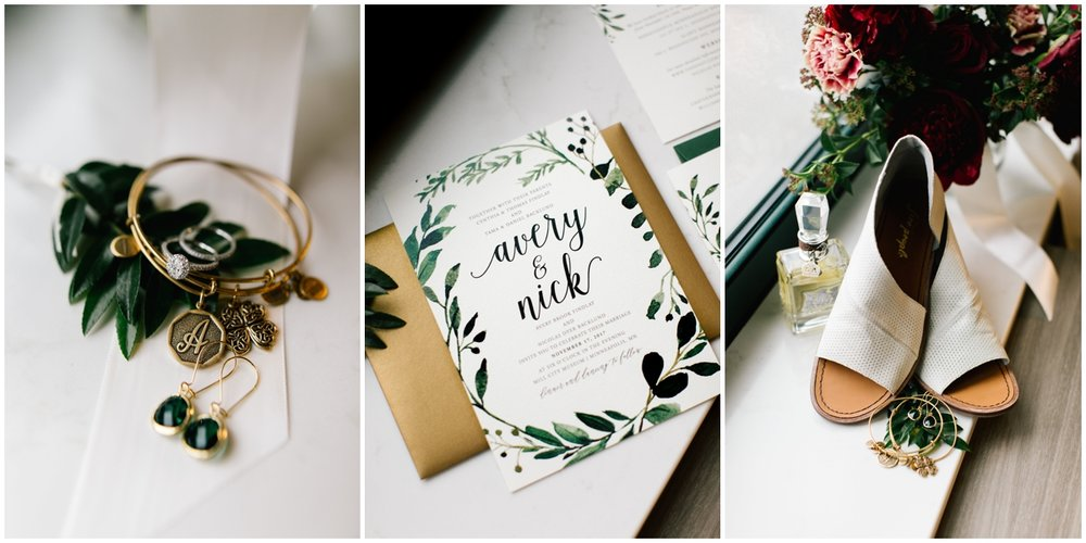 Greenery wedding theme accessories