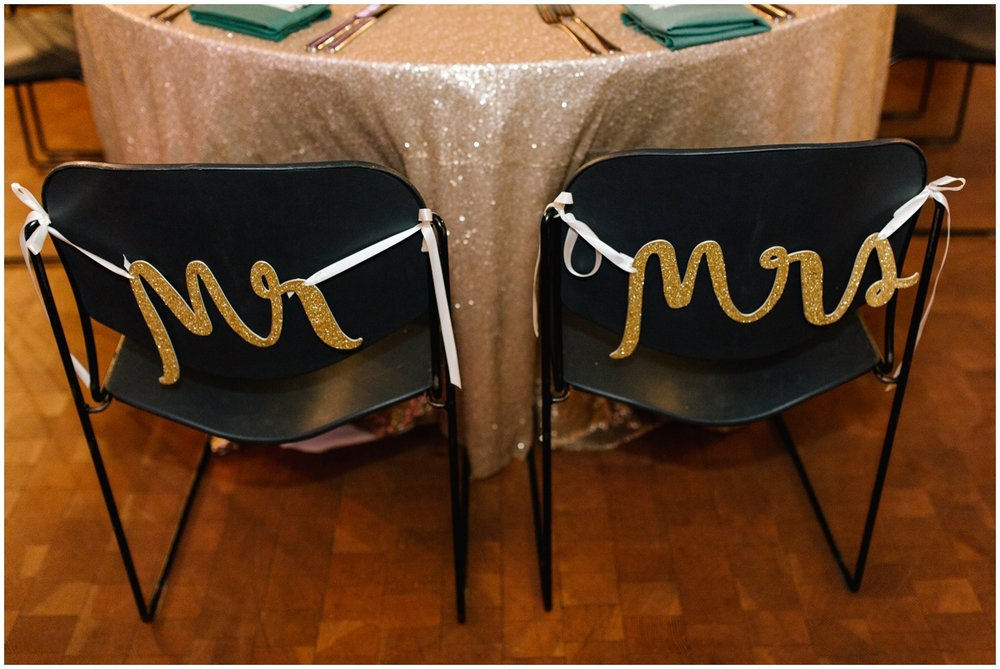 Mr and Mrs signage for MN wedding reception