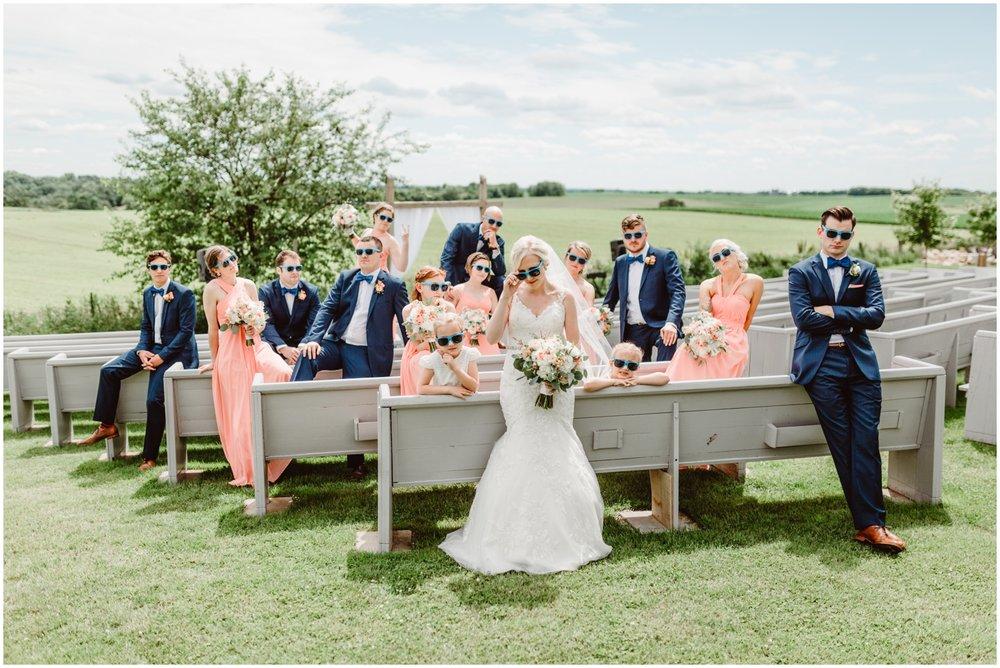 bridal party at MN wedding