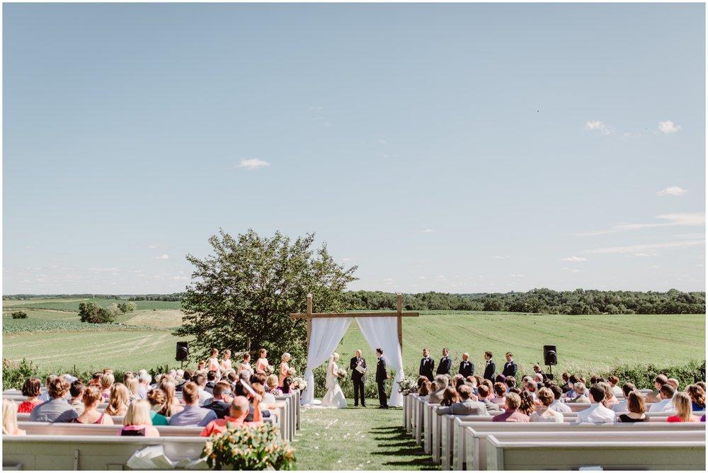 outdoor wedding ceremony in MN