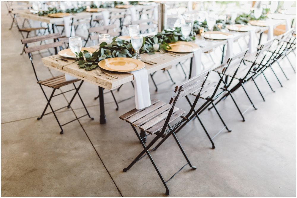 outdoor wedding reception in Minnesota