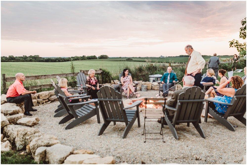 guests enjoying outdoor wedding