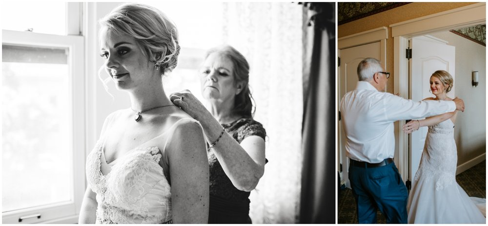 bride getting ready for her Minneapolis Wedding