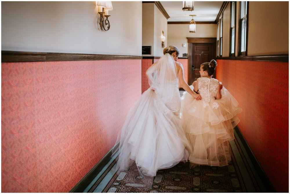 bridal wedding gown and veil