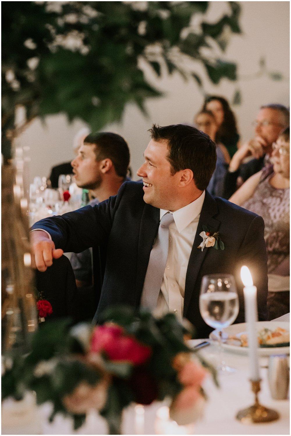groom at his American Swedish Institute Wedding