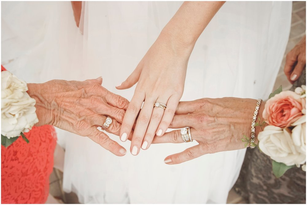 wedding rings from three generations
