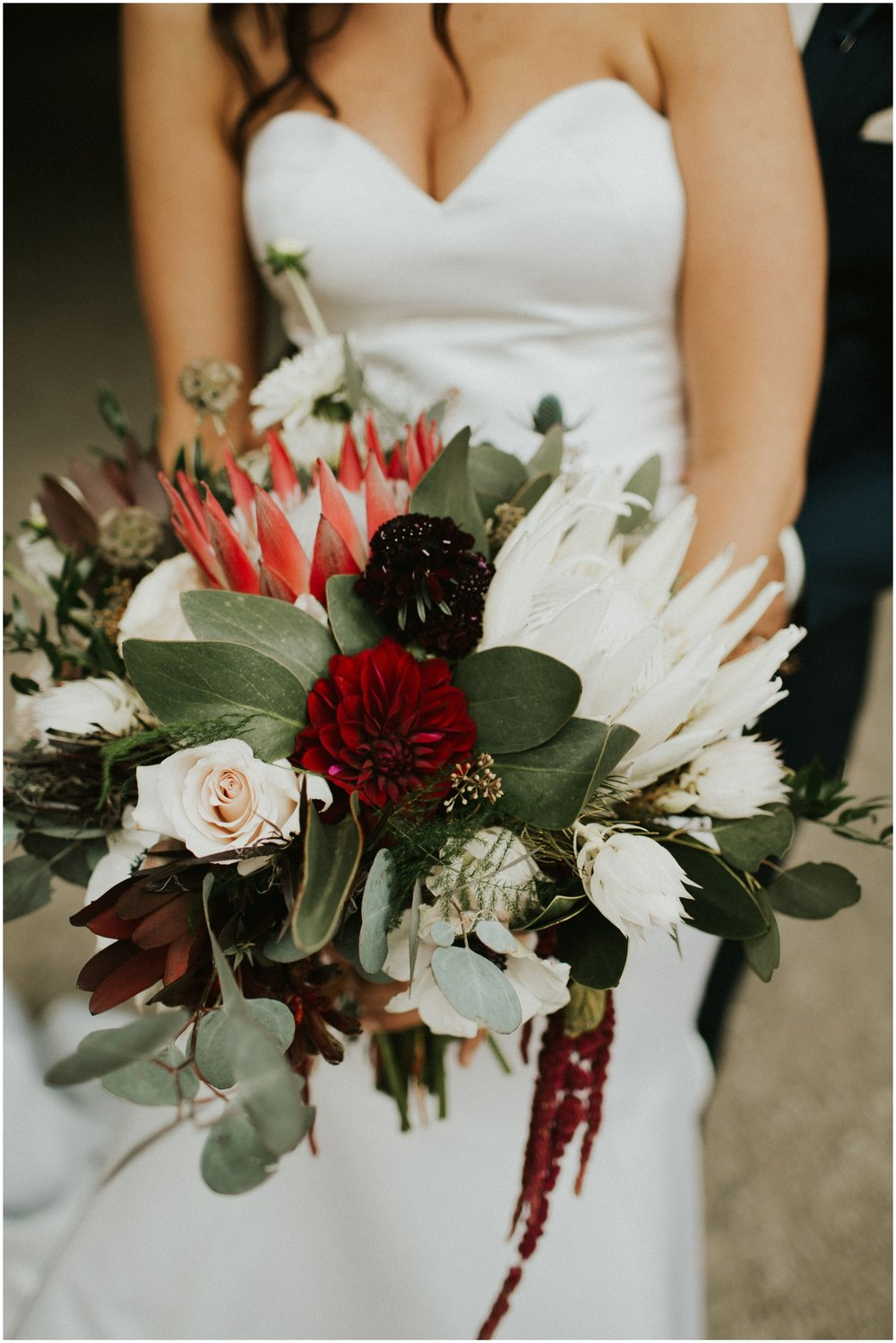Bride's bridal bouquet