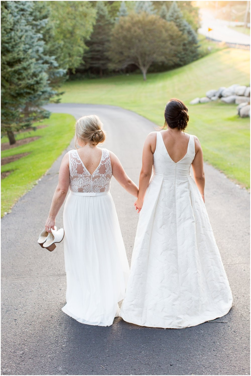 Brides holding their hands