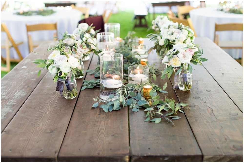 Outdoor floral centerpiece inspiration