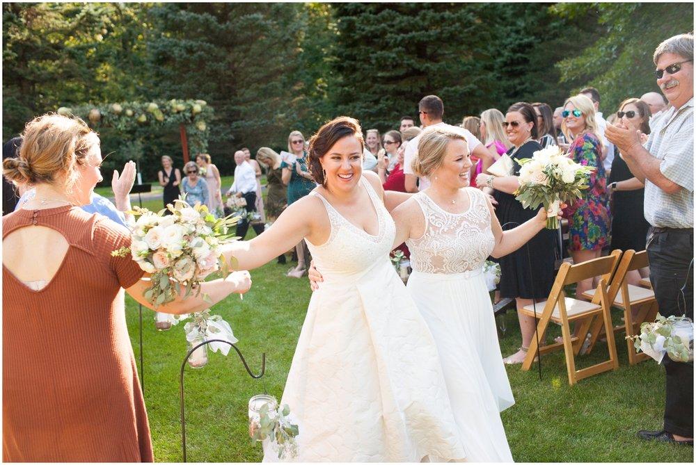 Brides at their wedding ceremony
